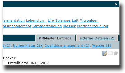Search within KMmaster and your storage system